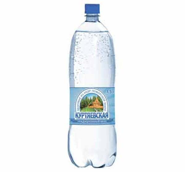 Минеральная вода газированная Куртяевская К-1 1,5л