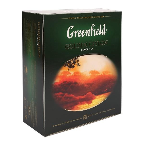 Чай черный Greenfield Golden Ceylon 100пак