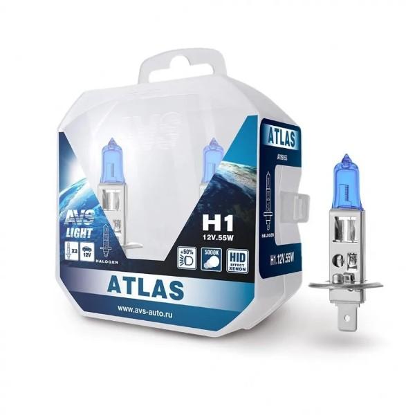 Лампа галогенная AVS Atlas PB/5000К/PB H1 12V 55W 2шт