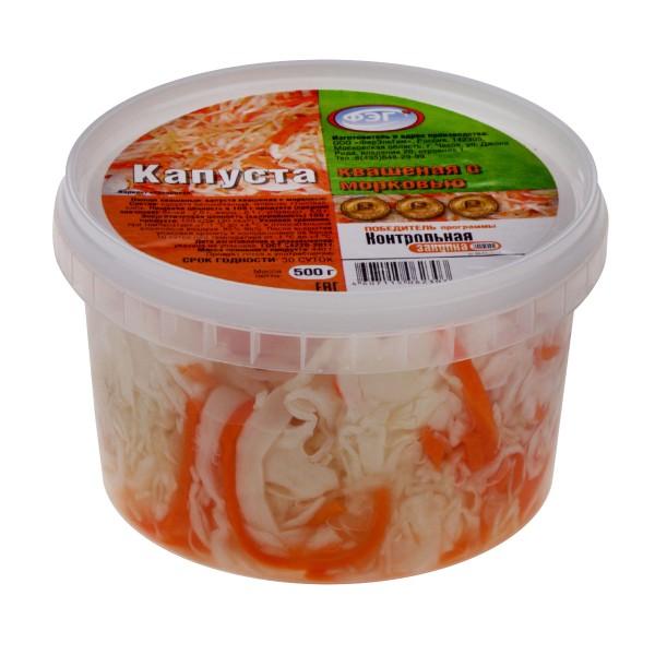 Салат Капуста квашеная с морковью ФЭГ 500гр