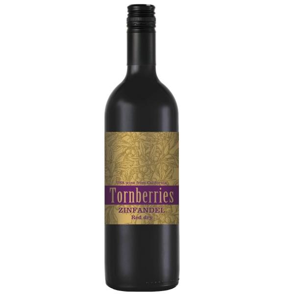 Вино столовое красное сухое Tornberries Zinfandel 14% 0,75л