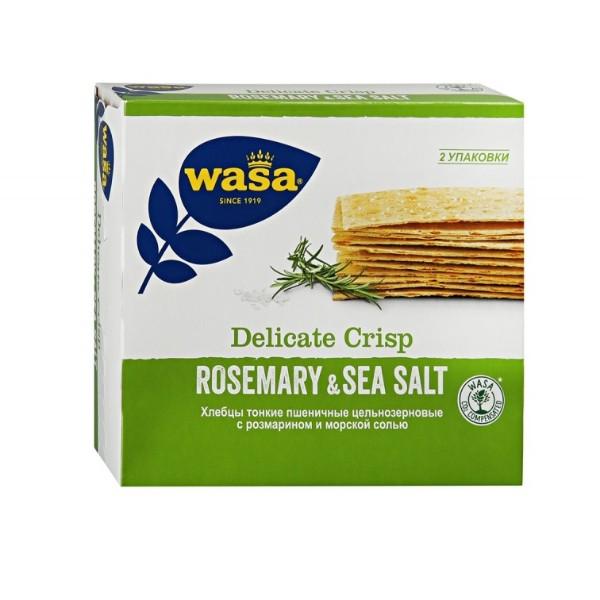 Хлебцы цельнозерновые тонкие Wasa 190гр розмарин и морская соль
