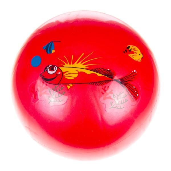 Мяч 22см с наклейкой Играем вместе рыбка