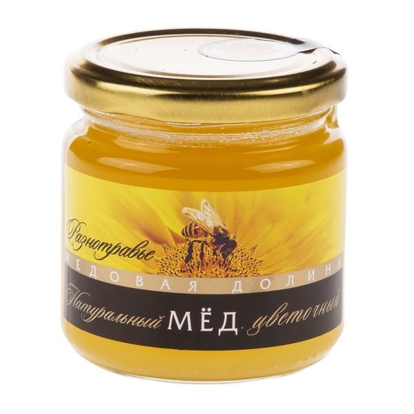 Мед натуральный цветочный Разнотравье Медовая долина 250гр