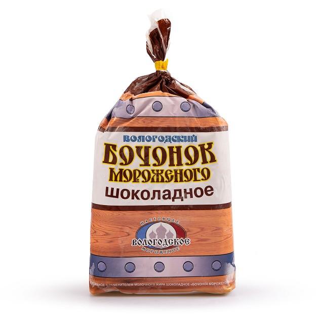 Мороженое Бочонок Вологодский Айсберри 900гр шоколадное