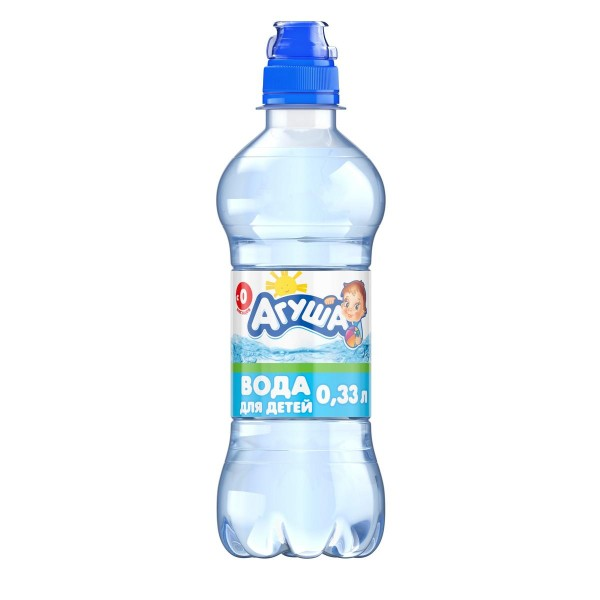 Вода питьевая детская негазированная Агуша 0,33л
