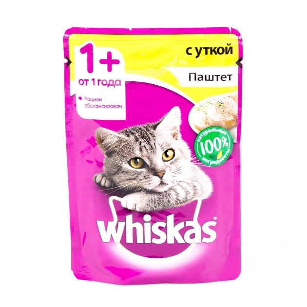 Корм для кошек Whiskas 85гр паштет с уткой