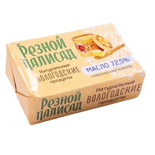 Масло сливочное Крестьянское Резной палисад 72,5% 160гр БЗМЖ