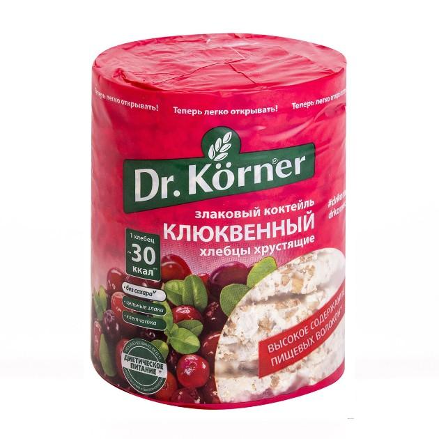 Хлебцы Dr.Korner 100гр злаковый коктейль клюквенный