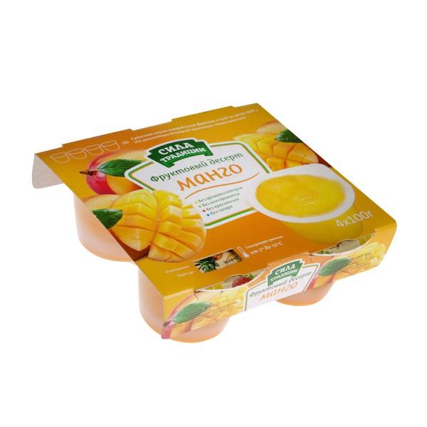 Десерт фруктовый Сила традиций 4х100г манго без сахара