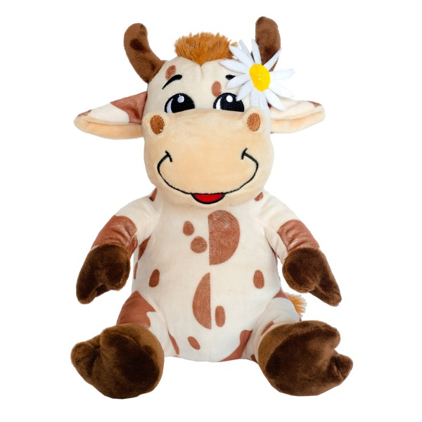 Игрушка мягкая Корова Майя с ромашкой