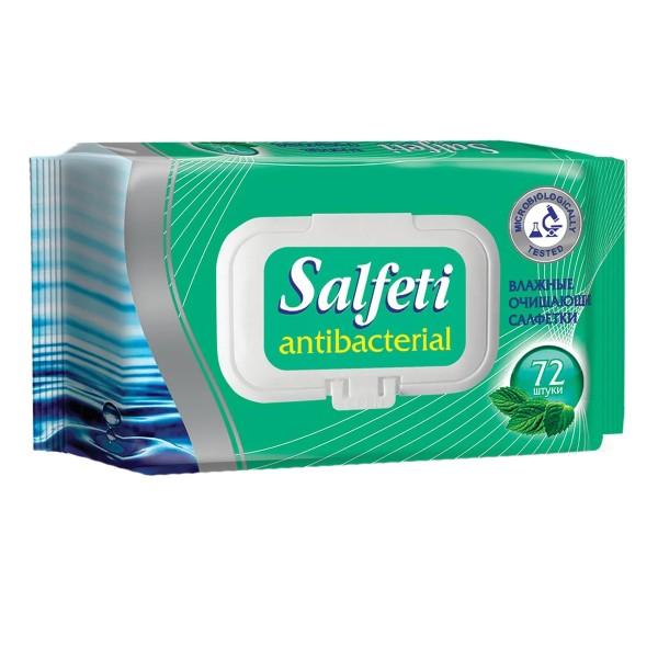 Влажные салфетки Salfeti Аntibac антибактериальные 72шт