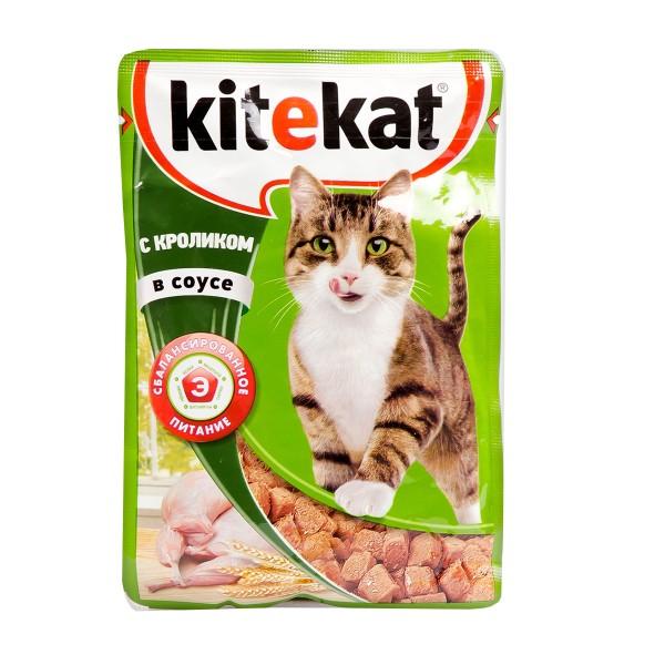 Корм для кошек Kitekat 85гр с кроликом в соусе