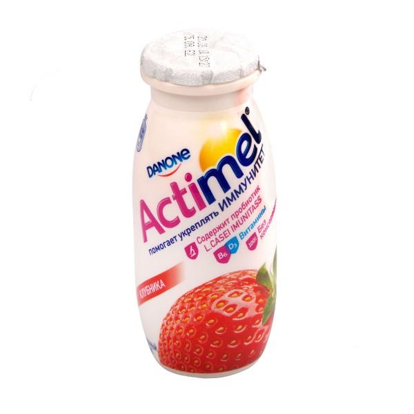 Продукт кисломолочный питьевой Actimel 100г клубника БЗМЖ