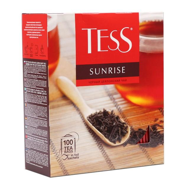 Чай черный Tess Sunrise 100пак