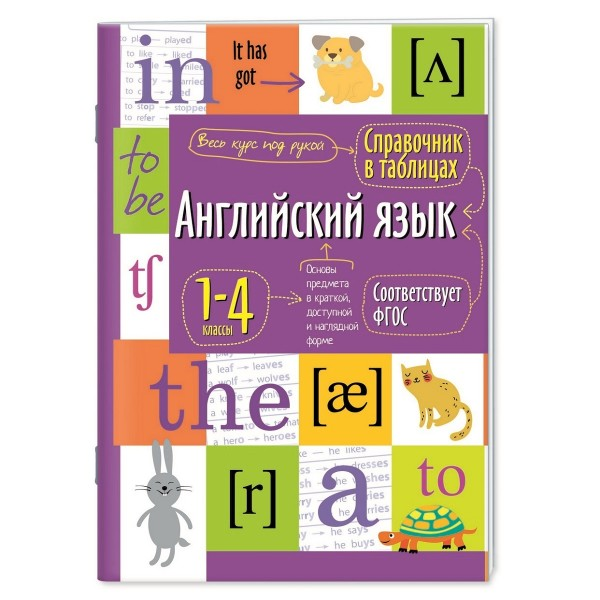 Английский язык. 1-4 классы. Справочная тетрадь в таблицах. (Айрис-пресс)