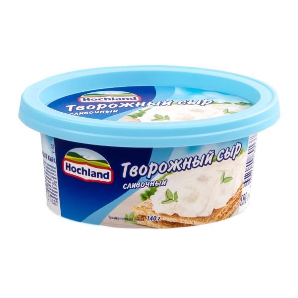 Сыр творожный 60% Hochland 140гр сливочный БЗМЖ