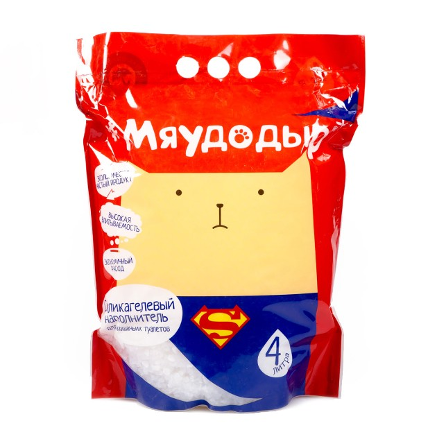Наполнитель для кошачьих туалетов Мяудодыр 4л силикагелевый
