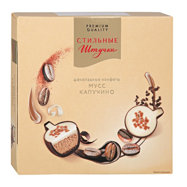 Конфеты шоколадные Мусс капучино Стильные штучки 104г