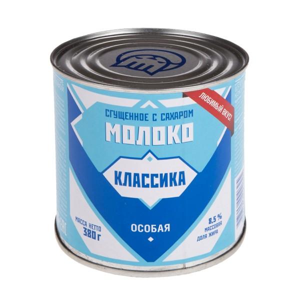 Молоко сгущеное с сахаром Любимая классика 380гр БЗМЖ