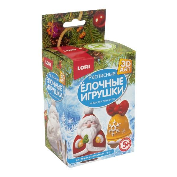 Набор для творчества Роспись елочных игрушек Дед мороз и колокольчик