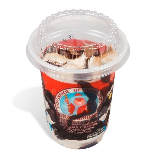 Мороженое От Деда Мороза 180гр шоколадный топинг