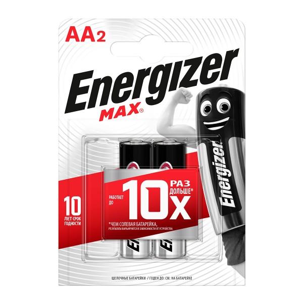 Батарейка Energize Max LR6/E91 AA 2шт