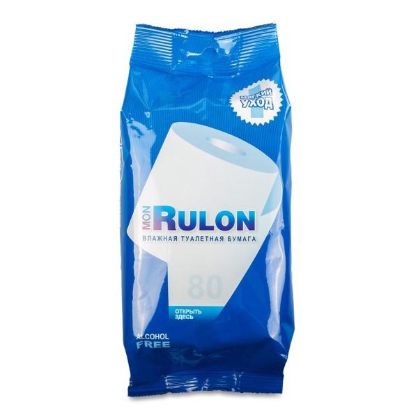 Бумага туалетная влажная Mon Rulon 80шт