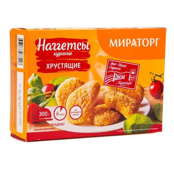 Наггетсы куриные Мираторг 300гр хрустящие