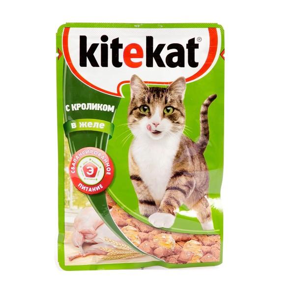 Корм для кошек Kitekat 85гр с кроликом в желе
