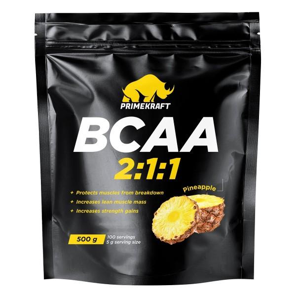 Аминокислоты BCAA 2:1:1 Prime Kraft 500г pineapple