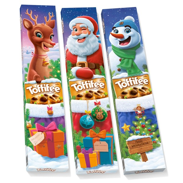 Шоколадная конфета Тоффифе Снеговик/Санта/Олень 375гр