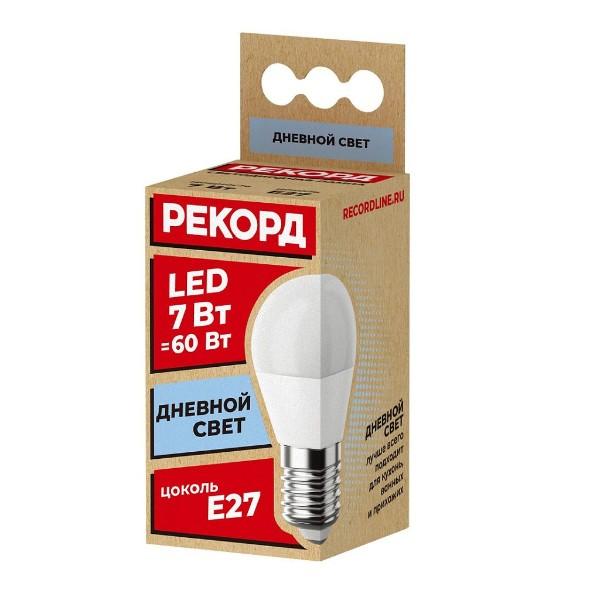 Лампа светодиодная Рекорд LED Р45 7W 4000K Е27