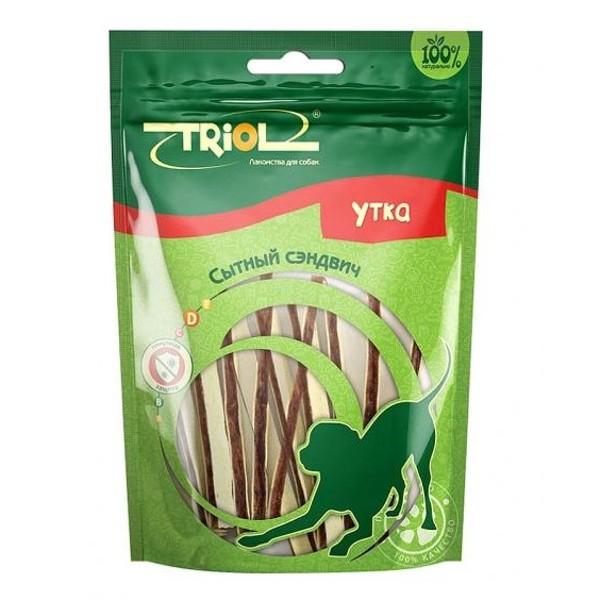 Лакомство для собак Сытный сэндвич Triol 70г утка