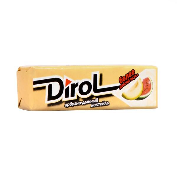 Жевательная резинка Dirol 13,6гр арбузно-дынный коктейль
