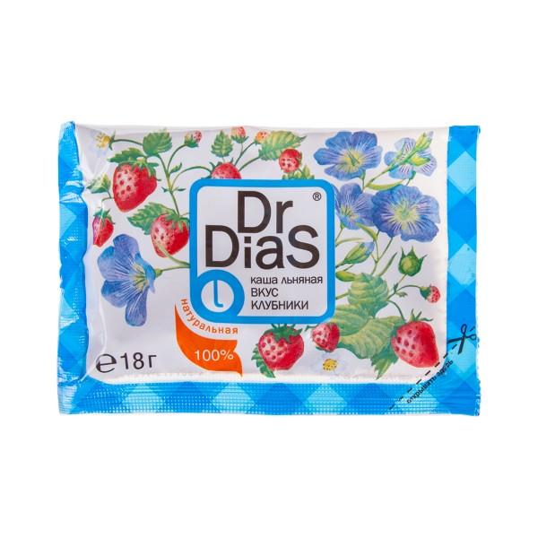 Каша льняная Dr.Dias 18г вкус клубники