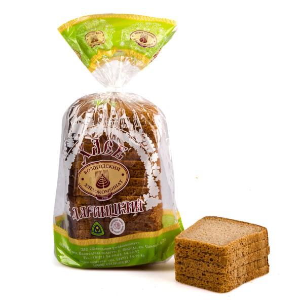Хлеб Дарницкий формовой в нарезку Вологодский хлебокомбинат 0,65кг