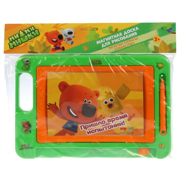 Доска магнитная для рисования Ми-ми-мишки 27х19см Играем вместе