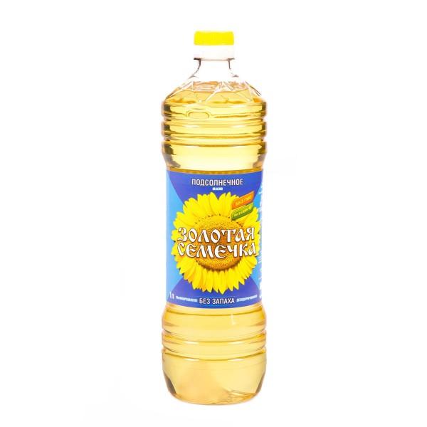 Масло подсолнечное Золотая семечка рафинированное 1л