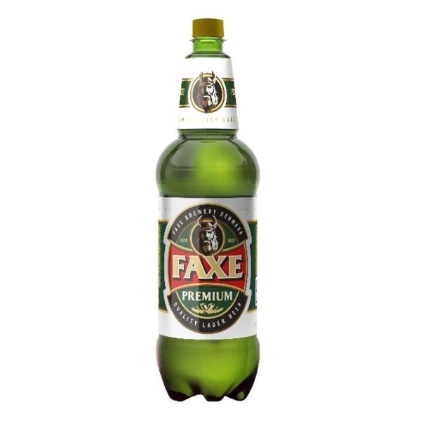 Пиво светлое пастеризованное фильтрованое  Faxe Premium 4,9% 1,3л