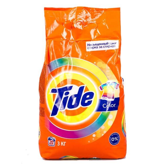 Порошок стиральный Tide 3кг Аква-пудра автомат color