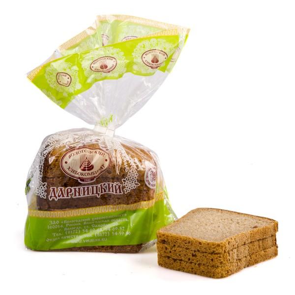 Хлеб Дарницкий формовой в нарезку Вологодский хлебокомбинат 0,325кг