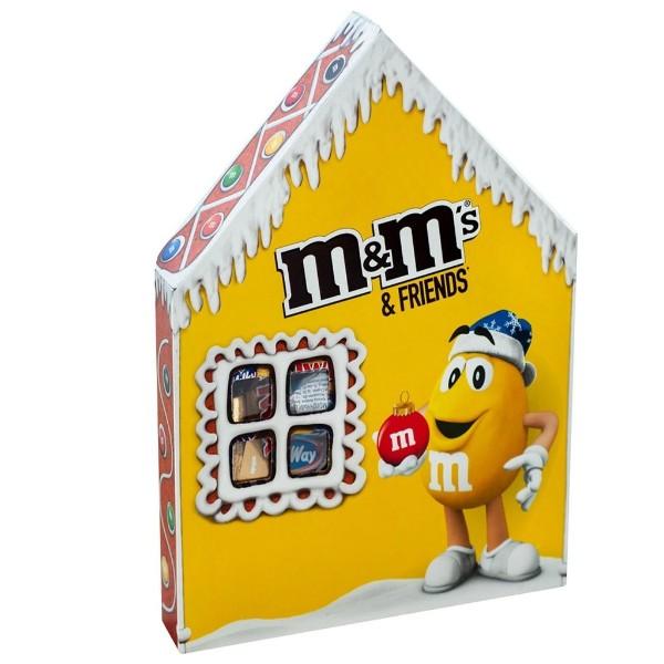 Подарок новогодний M&M's & Friends домик 236г