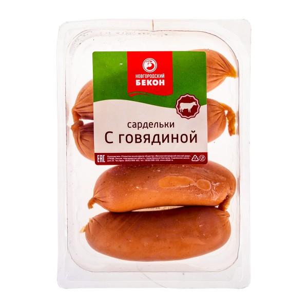 Сардельки С говядиной Новгородский бекон 400г
