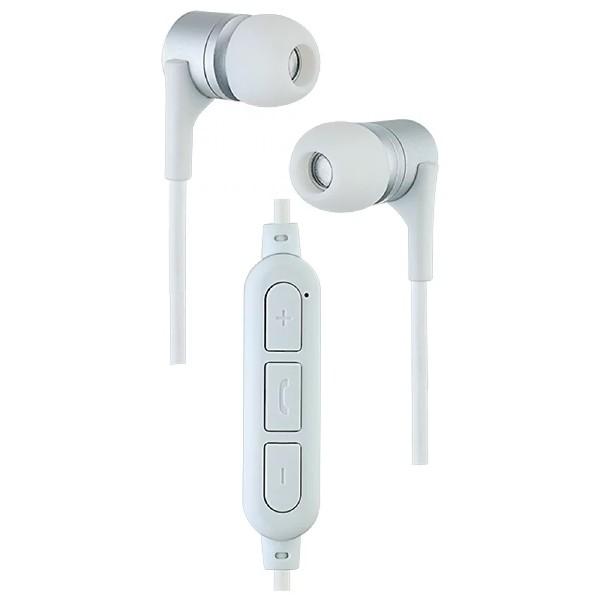 Наушники внутриканальные YO Perfeo с микрофоном белые