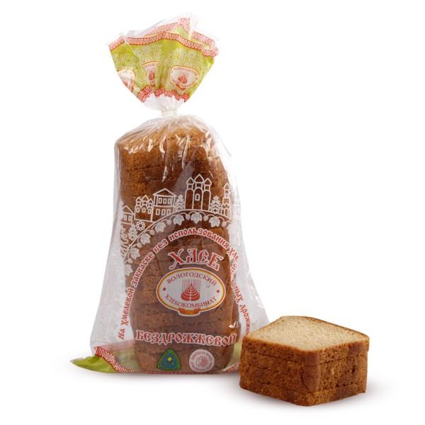 Хлеб бездрожжевой в нарезку Вологодский хлебокомбинат 0,4кг