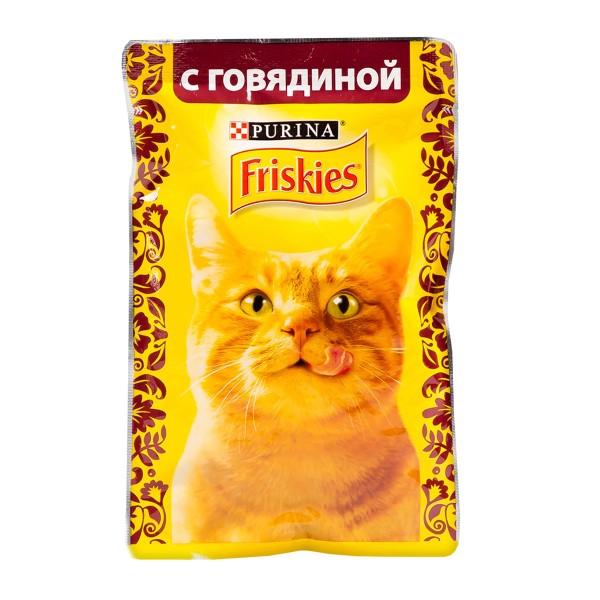 Корм для кошек Friskies 85гр с говядиной