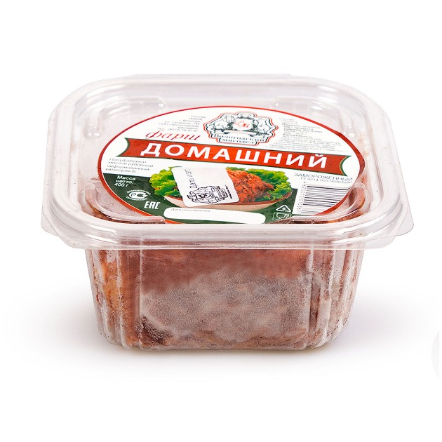 Фарш замороженный Домашний Вологодский мясодел 400гр