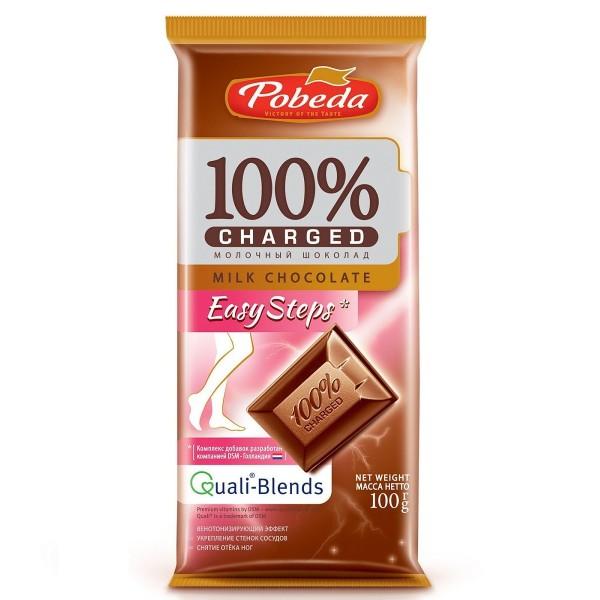 Шоколад молочный 100% Charger Easy Steps Победа 100гр