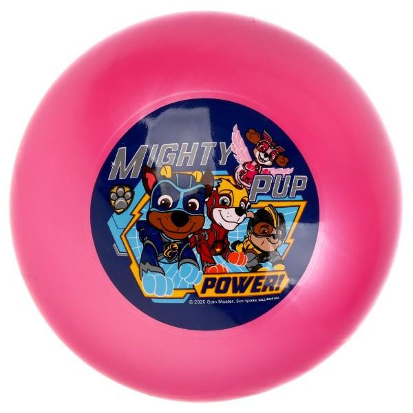 Мяч с наклейкой 23см в сетке щенячий патруль